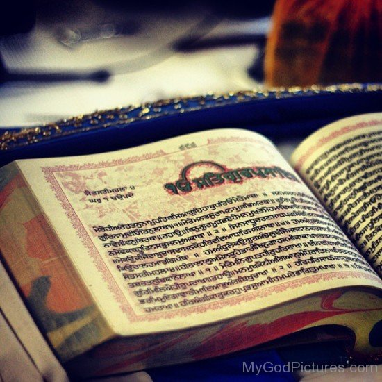 Closeup Picture Of Sree Guru Granth Sahib Ji