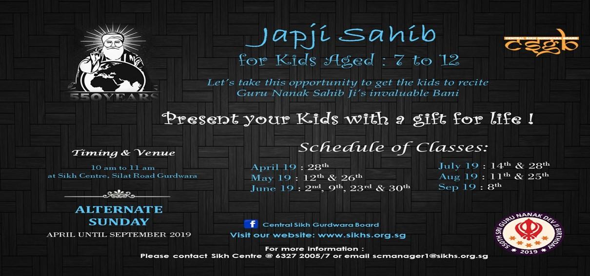 Japji Sahib kids